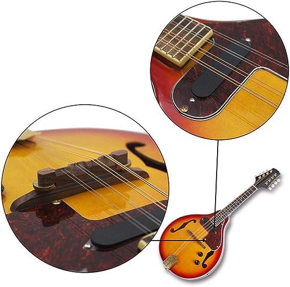 Zhicaikeji Guitarra 8 Cuerdas De La Mandolina Eléctrica Color De ...