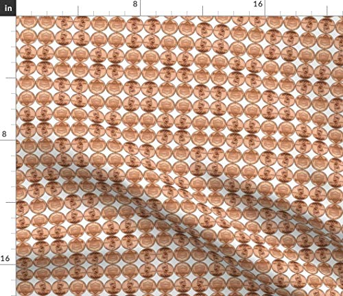Spoonflower Penny Fabric - 2