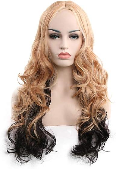 Women Full Wigs Long Curly Wavy Hair Wigs Costume Cosplay Wigs
