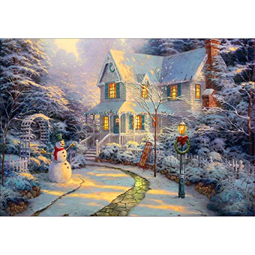 Adarl 5D DIY Diamond Painting Rhinestone Pictures Of Crystals Embroidery Kits Arts, Crafts & Sewing Cross Stitch (Christmas Snow - 2 Hut