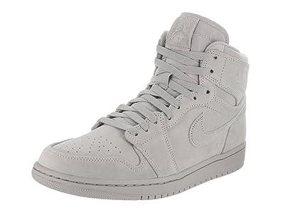 Jordan Mens AJ 1 Retro High Sneaker (Wolf GreyWolf Grey)