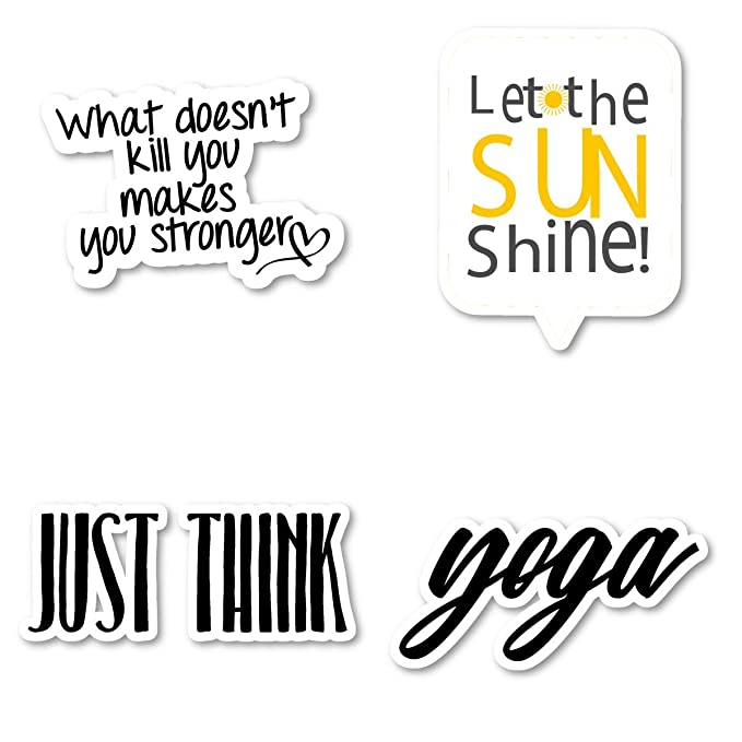 Motivational Quotes for Girls Sticker Pack Inspirational Stickers - 4 Pack - Laptop Stickers - for Laptop, Phone, Tablet Vinyl Decal Sticker (4 Pack) S211296 best motivational laptop stickers