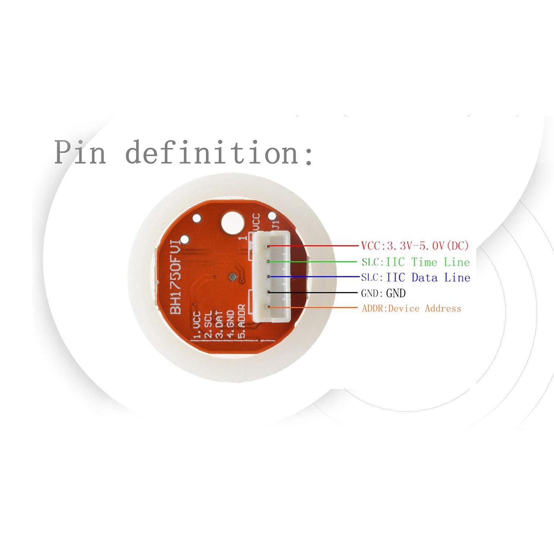 Semoic Bh1750 Bh1750Fvi Chip Light Intensity Light Module Light Ball Dc5V for