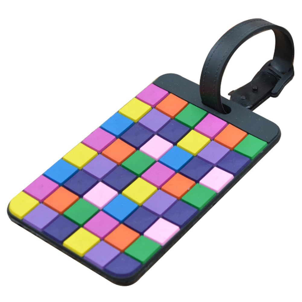 Chytaii Etiquette pour Bagage Valise ID Sac Luggage Tag Suitcase Voyage Avion en Silicone Rectangulaire Multicolore