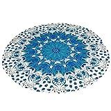 Beach Towel Round Flowers Printed Large Bath Towel Yoga Cushion Mat Serviette (MSHK327 Multicolor)