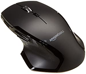 AmazonBasics Full-Size Ergonomic Wireless Mouse with Fast Scrolling