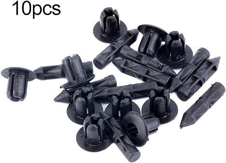 Zinniaya Lot de 10 Clips de Fixation pour car/énage de Voiture en Plastique 6 mm pour Honda