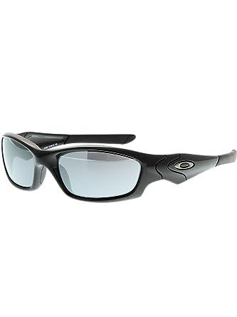 ec1b3d557c5 Oakley Straight Jacket 9039 04-325 Polished Black Black Iridium Sunglasses   Amazon.co.uk  Clothing