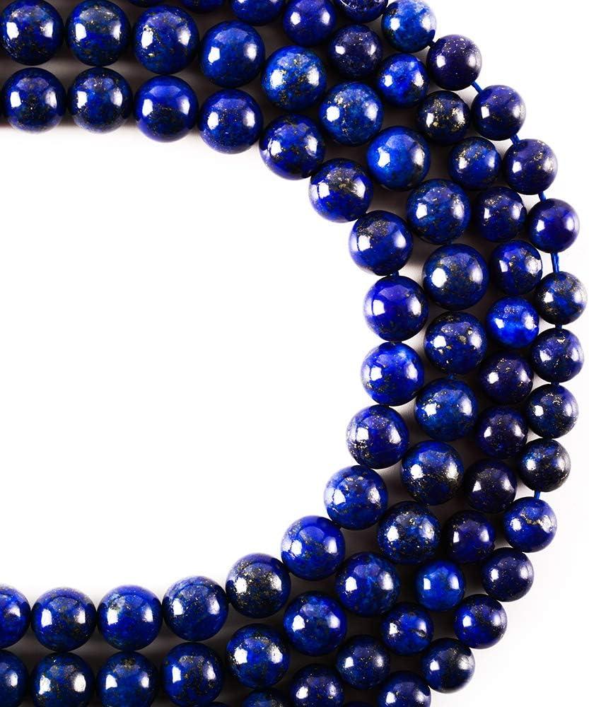 RayLineDo/® 45Pcs 8mm Natural Black Onyx Stone Round Beads Loose Beads Wholesale for Jewelry Making