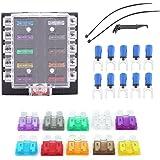 Caja de 10 fusibles para fusibles de coche, circuito de automoción, 32 V CC, juego de cubiertas de fusibles estándar…