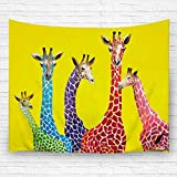 Children Giraffe Tapestry home Decorative Hanging Ornaments Wall Hanging with 3D printing art polyester fabric 80W X 60L Inches (1)