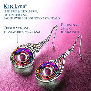 Kate Lynn Nirvana of Phoenix Earrings for Women, Crystal from Swarovski, Original Design Symbolizing Luck and Renewal, Jewellery Gift Box Packaging, 2.9 * 1.6 cm