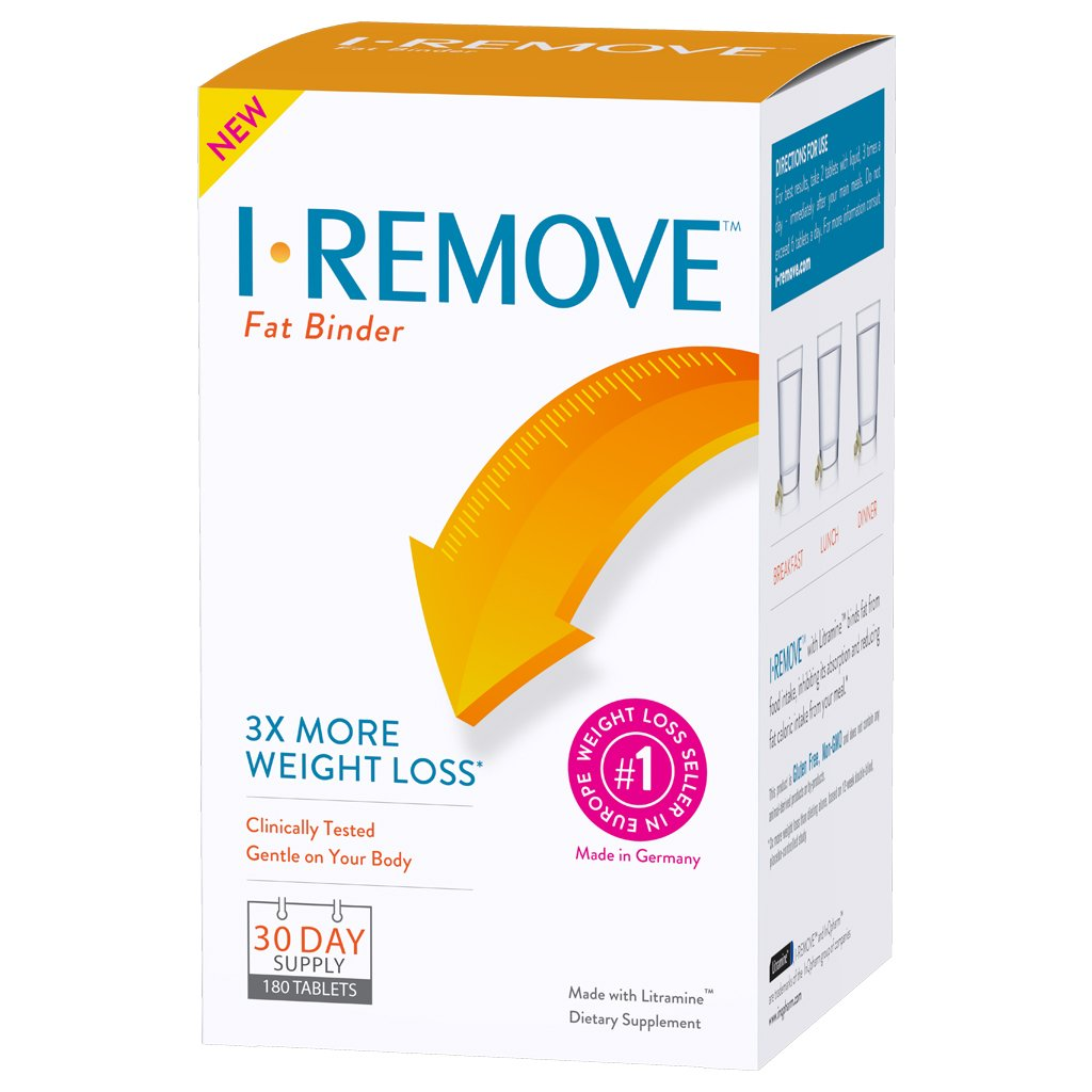 I Remove Weight Loss Pills Diet Supplement Clinically Tested Fat Binder Tablets 30 Day Supply