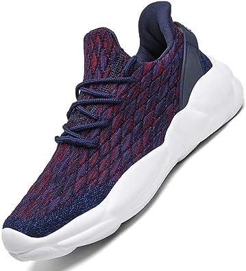 visionreast Zapatillas Running para Hombre Mujer Aire Libre y Deporte Transpirables Casual Zapatos Gimnasio Correr Sneakers Unisex: Amazon.es: Zapatos y complementos