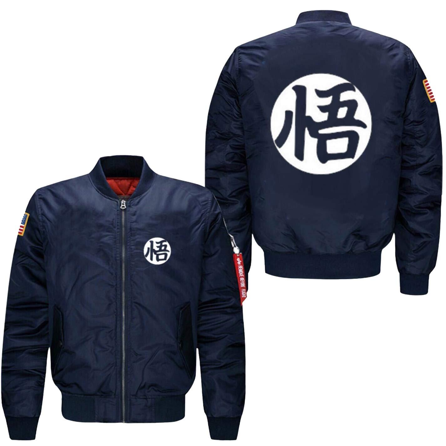 Men bomber flight jacket anime dragon ball cartoon goku sun baseball coat at amazon mens clothing store