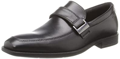 Ecco Black Mens Slip On Edinburgh Loafers