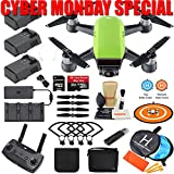 DJI Spark Drone Quadcopter Fly More Combo (Meadow Green) with 3 Batteries, Remote Controller, Charger, Charging Hub, Shoulder Bag, Camera Gimbal Bundle Kit with MUST HAVE Accessories