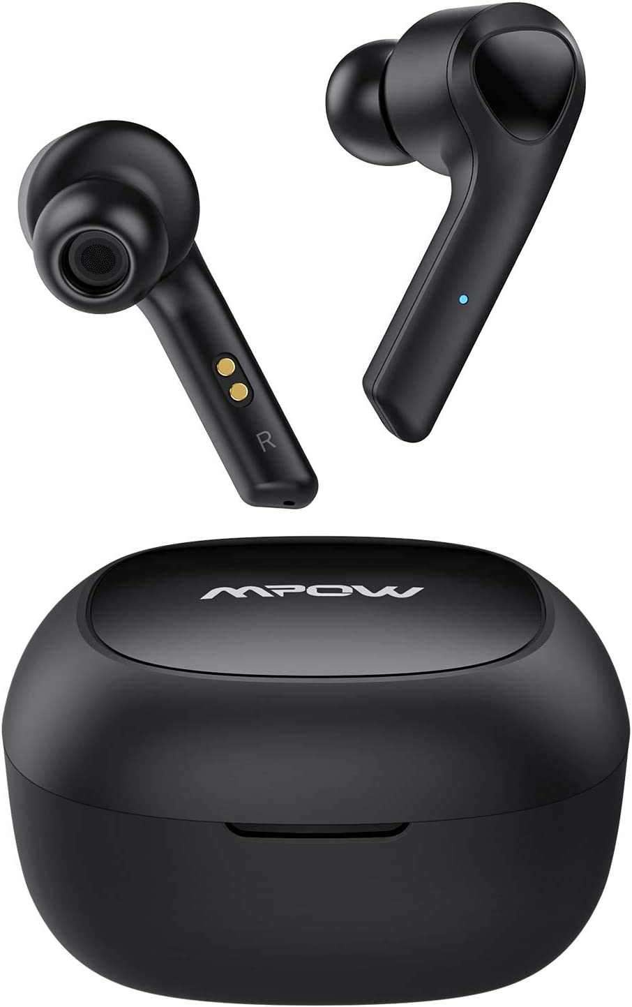 True Wireless Earbuds, Mpow MS1 in-Ear Bluetooth Earphones, Immersive Sound w/Bass, IPX7 Sweatproof, Touch Control, 25 Hrs w/Charging Case/Mics, TWS Headphones for All Bluetooth Devices