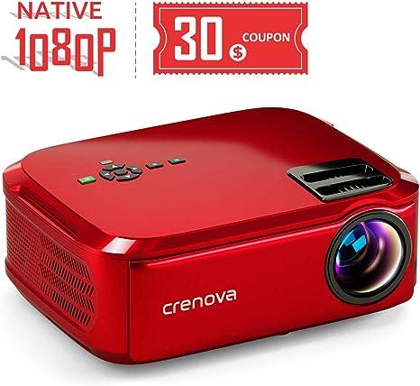 Amazon.com: Crenova Proyector nativo 1080p LED Proyector de ...