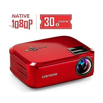 Crenova Proyector Nativo 1080p LED proyector de vídeo, 5500 ...