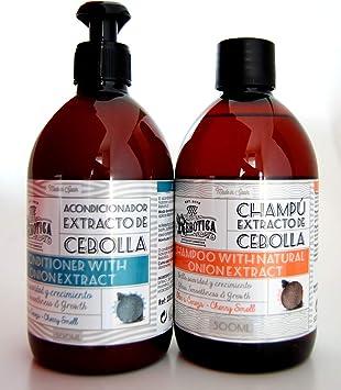 Mi Rebotica Pack: Champú 500ml + Acondicionador 500ml con Extracto de Cebolla.: Amazon.es: Salud y cuidado personal