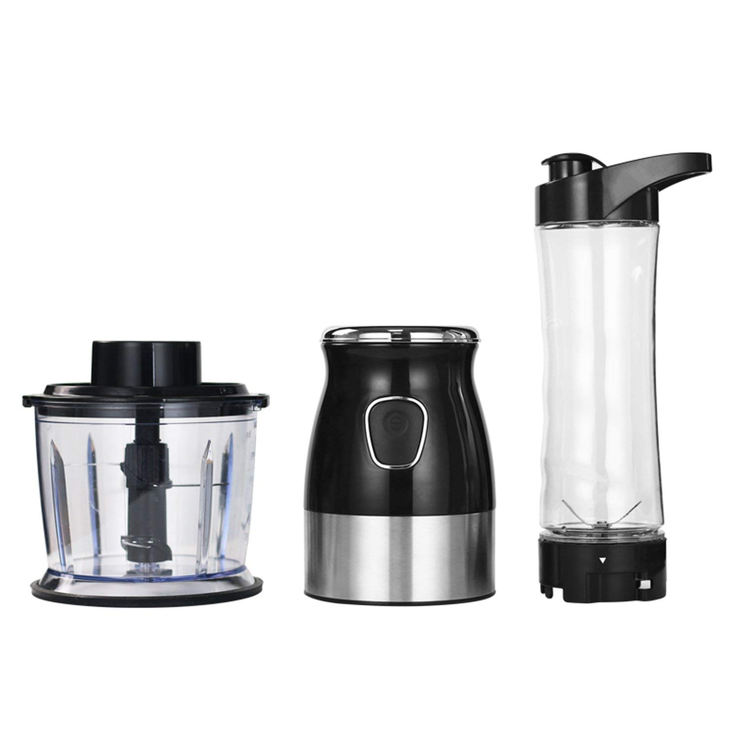 BPA FREE 500W Portable Personal Mixer Food Processor With Chopper Bowl 600ml Juicer Bottle Meat Grinder Baby Food Maker,Standard 2 in 1,AU Plug