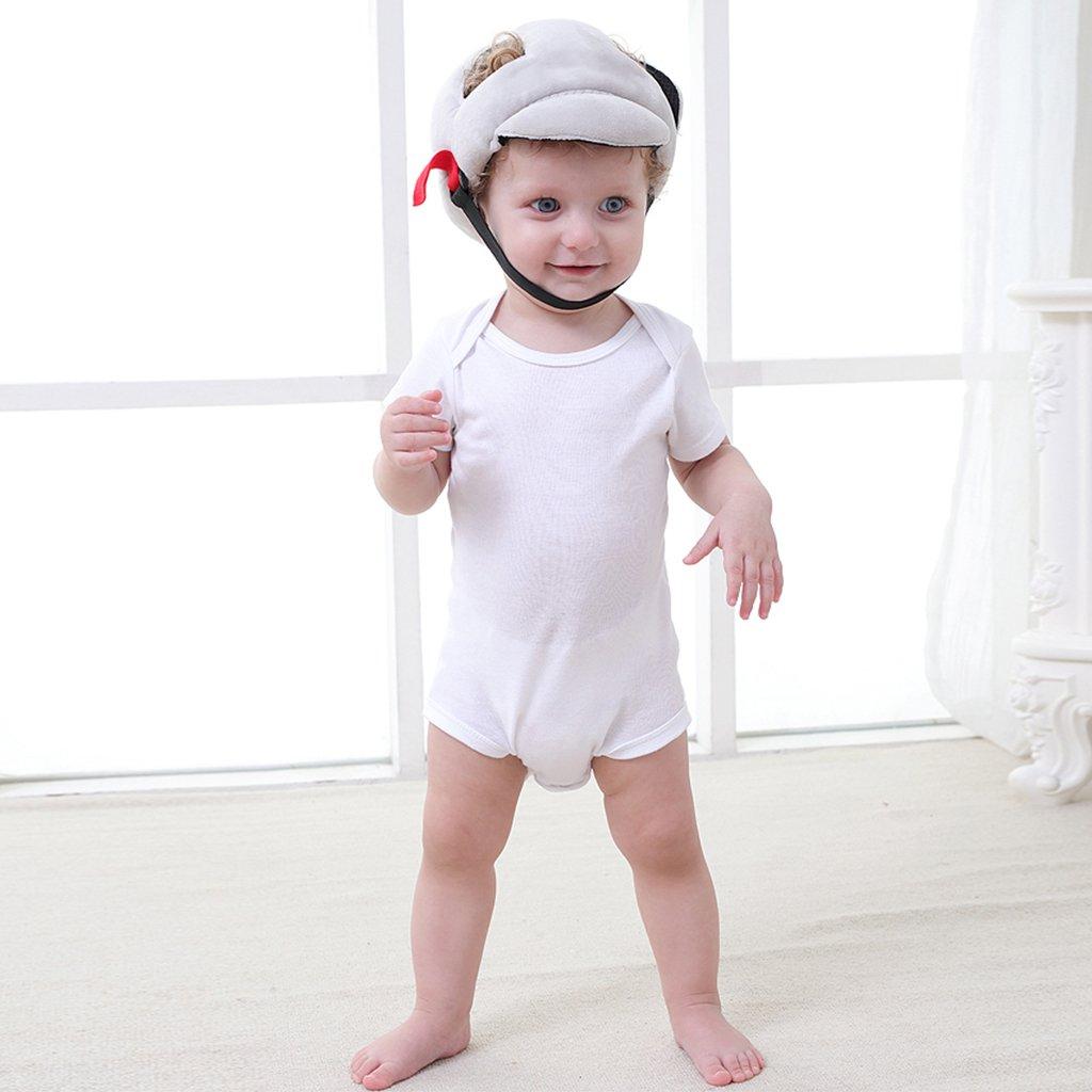 Casco Bebé de Seguridad, Gorro de Bebé Arnés de Seguridad Asistente de Caminar y Arrastrándose,Gris: Amazon.es: Bebé