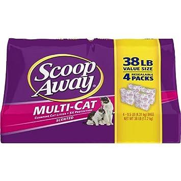 Amazon.com : Scoop Away Multi-Cat, Scented Cat Litter, 25 Pound Carton : Pet Supplies