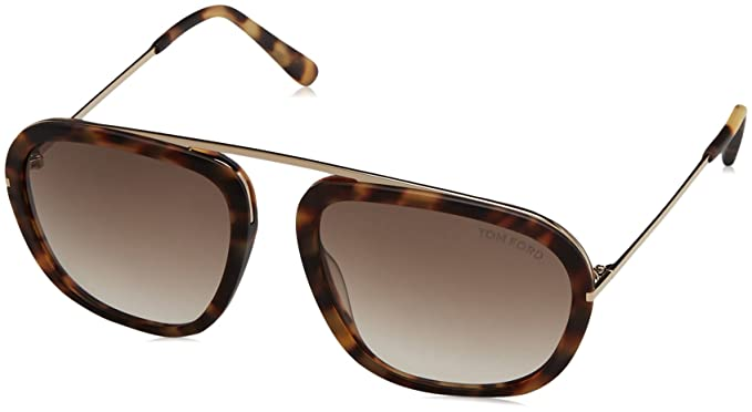 dfe47776d30c0 Tom Ford FT0453 C57 53F (blonde havana   gradient brown) Sunglasses  Tom  Ford  Amazon.co.uk  Clothing