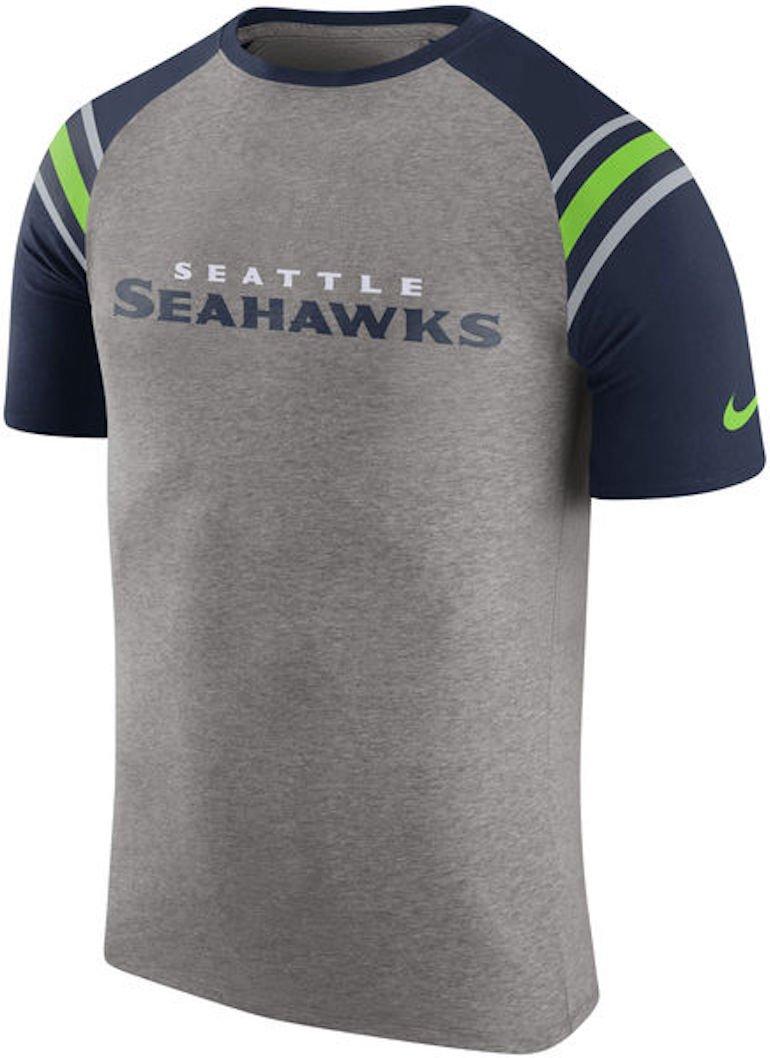 Nike Seattle Seahawks enzima Hombro Rayas raglán Camiseta ...