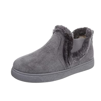 Cingant Woman Damen Stiefelette/Blockabsatz/Halbhohe Stiefel/Damenschuhe/Boots/Grau, EU 36