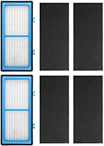 2 Pack HEPA Filters Replacement for Holmes AER1, HAPF30AT, HAP242-NUC ; 2 HEPA Filter + 4 Carbon Booster Filters