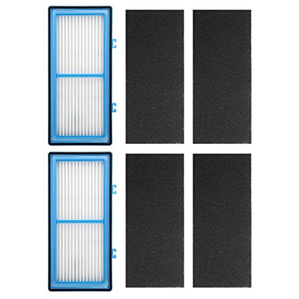 2 Pack HEPA Filters Replacement for Holmes AER1, HAPF30AT, HAP242-NUC ; 2 HEPA Filter + 4 Carbon Booster Filters by Ximoon