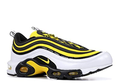 Nike Air Max Plus 97 Men's WhiteTour YellowBlack Nylon Running Shoes 11 D US