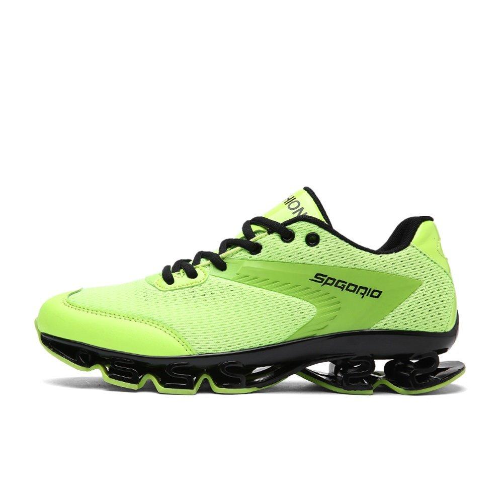NANXIE Zapatos Deportivos Ligeros para Hombres Zapatos Deportivos multifuncionales Zapatos Deportivos para Hombres nuevos de Malla Respirable de Verano (Color : Verde, tamaño : 44) 44|Verde