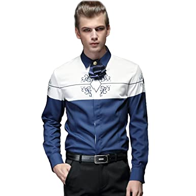 c7e4ac5b FANZHUAN Fashion Trends Shirt Fashion Casual Shirts for Men Button Down Shirt  Men Blue Men Fashion
