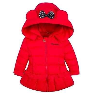 Ankoee Mignon Bébé Fille Manteau Veste Hiver Cape Blousons Vêtements Chauds  Enfants (90cm 12 d25ca771500d