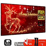 120 inch Projector Screen,16:9 HD Indoor and Outdoor 4k Portable Foldable and Washable Anti-Crease Projection Movie Screen,Supports Double-Sided for Home Cinema Theater Presentation Education Public