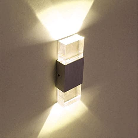 bfe21151cb77 Unimall LED Beside Wall Sconce Lamp Up and Down 6W Indoor Wall Lights for  Bedrooms Living Room Hallway Office Corridor, Warm White: Amazon.co.uk:  Lighting
