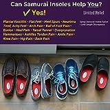 Samurai Insoles Instant Relief Orthotics for Flat