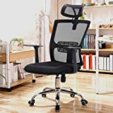 Yaheetech Swivel Mesh Office Chair High Back Computer Desk Chair Adjustable with Headrest