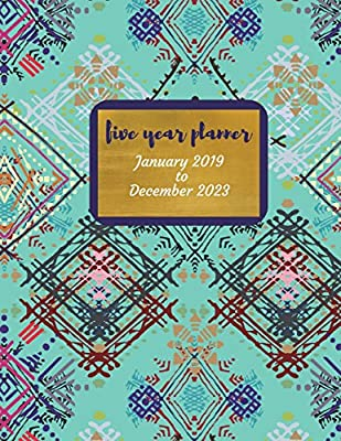 2019 - 2023 Mila Five Year Planner: 2019-2023 Monthly ...