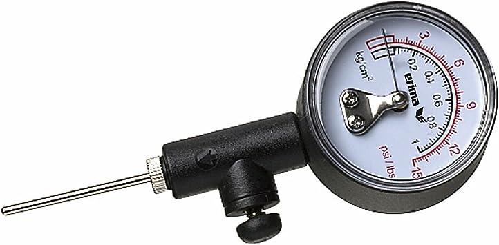 Derbystar Ballpumpe mit Luftdruckprüfer schwarz Luftpumpe mit Ersatzventil NEU