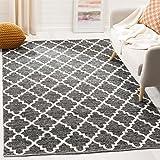 Safavieh Montauk Collection MTK810D Handmade Flatweave Black and Ivory Cotton Area Rug (6' x 9')