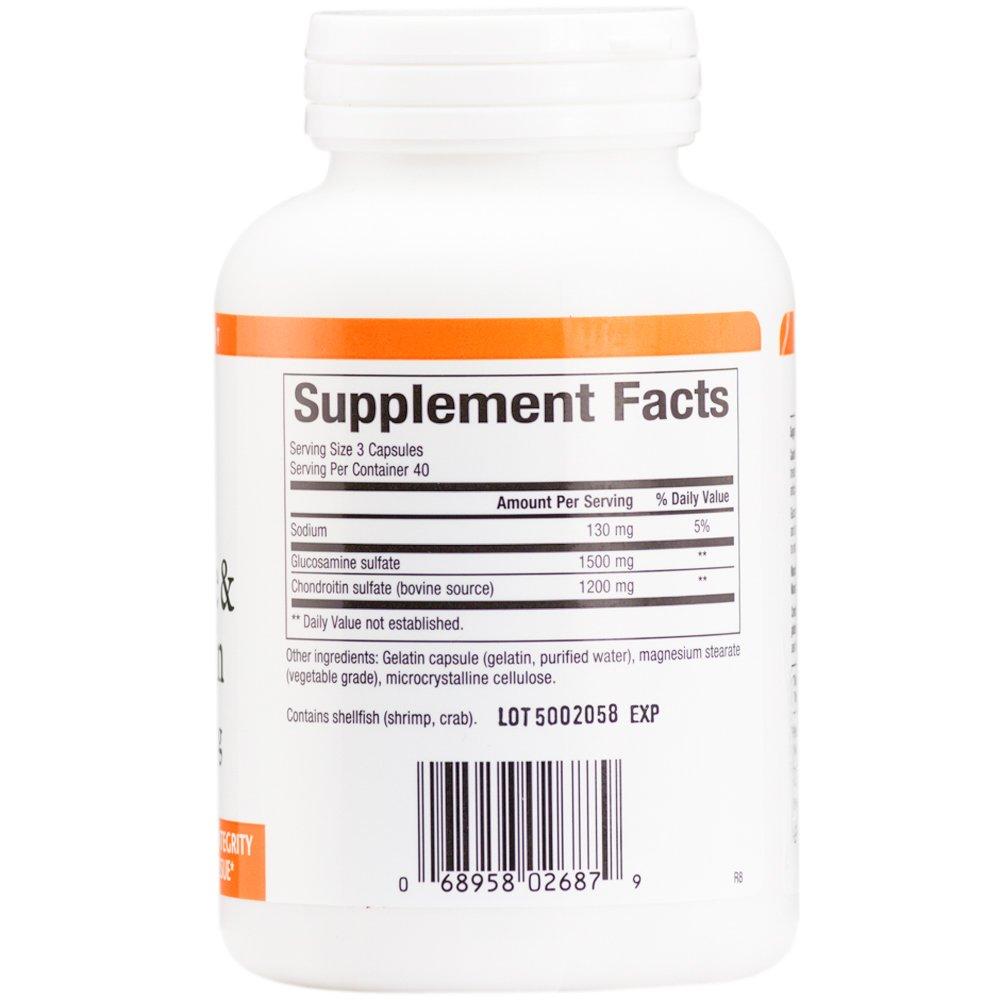 La glucosamina y condroitina, 500 mg / 400 mg, 120 cápsulas - Factores Naturales: Amazon.es: Salud y cuidado personal