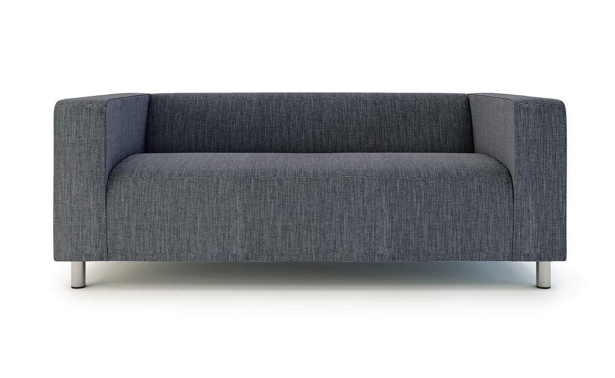 Klippan Loveseat Slipcover for The IKEA 2 Seater Klippan Loveseat Sofa Cover Replacement-Polyester Dark Grey
