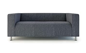 Klippan Loveseat Slipcover for The IKEA 2 Seater Klippan Loveseat Sofa Cover Replacement-Polyester Dark Grey