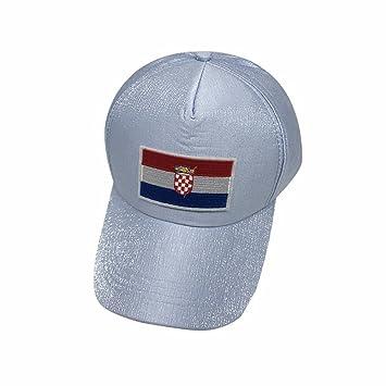 2018 Croacia Gorras De Béisbol De La FIFA Moda Unisex Gris Gorras De Tenis De La ...