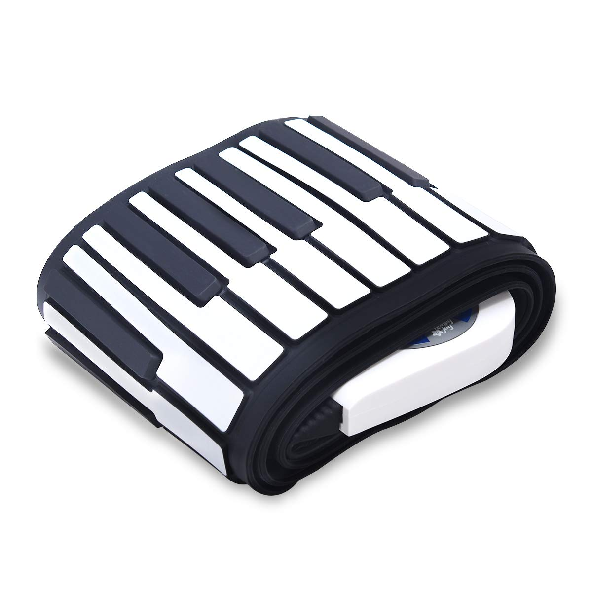 BABY JOY Roll Up Piano, Upgraded Electronic Piano Keyboard, Portable Piano w/Bluetooth, MP3 Headphone USB Input, MIDI OUT, 128 Rhythms, Record, Play, Volume Control (White, 88Keys) by BABY JOY (Image #6)