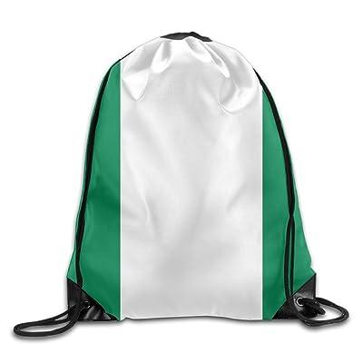 35ef34f1a7 hot sale 2017 Welonzd Gym Sack Bag Drawstring 2018 Nigerian Flag Backpack  Sport Bag